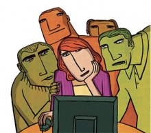 ilustración sobre la intimidad en la red